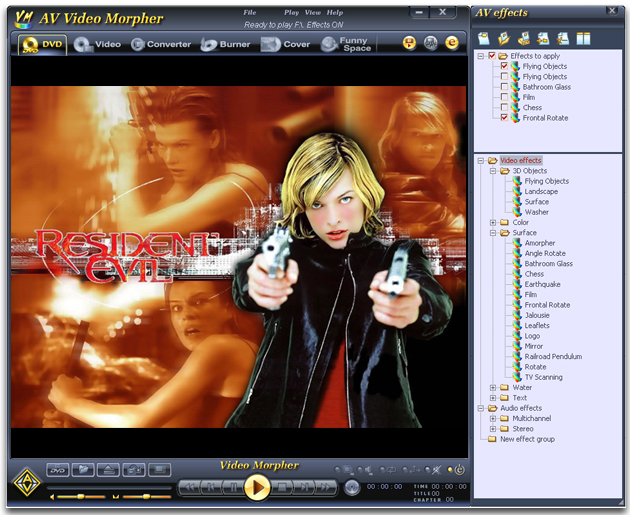 AV Video Morpher Screenshot